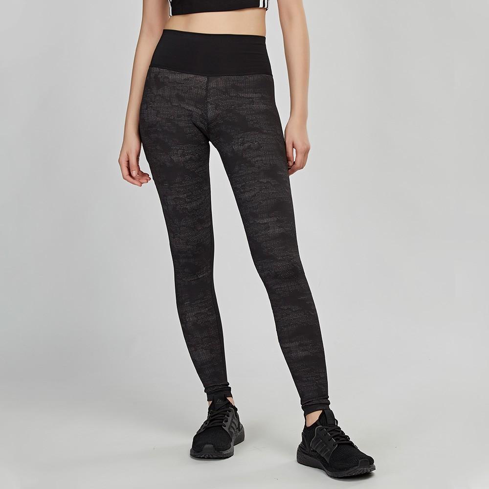 Adidas BT HR L CAMO 女款 黑色 高腰 訓練 拉鍊口袋 全身 緊身褲 EA3366