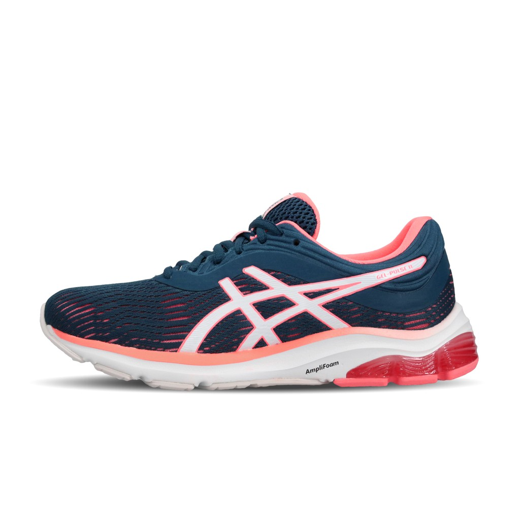 Asics 慢跑鞋 Gel-Pulse 11 藍 橘紅 粉紅 女鞋 1012A467-401 亞瑟士【ACS】