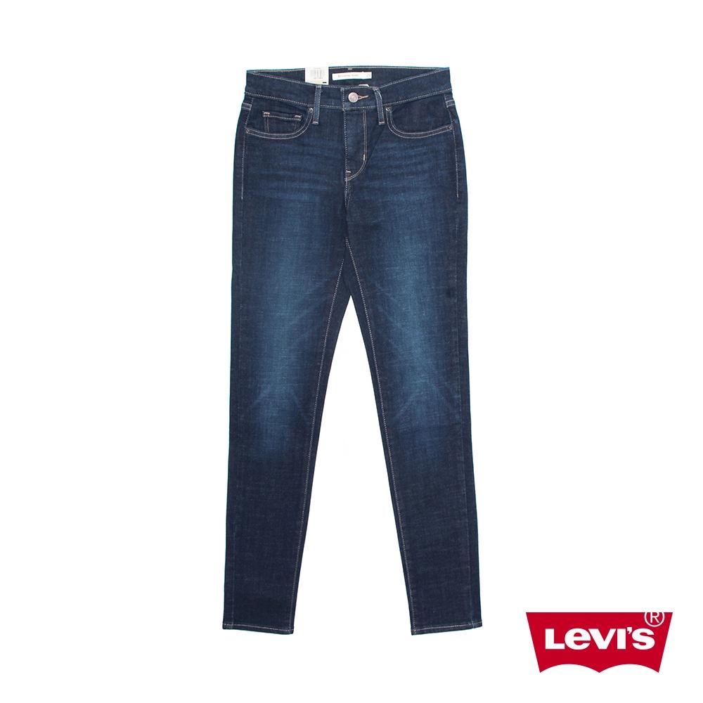 Levis 311中腰縮腹緊身牛仔長褲 / 深藍微刷白 / 彈性布料 女款-熱銷單品 19633-0094