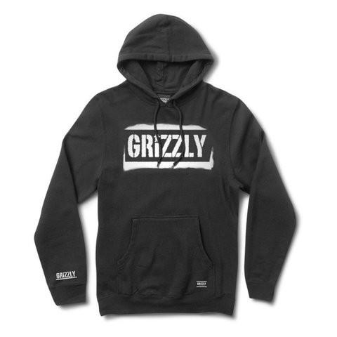 Grizzly Stencil Stamp 帽T (黑)《Jimi Skate Shop》