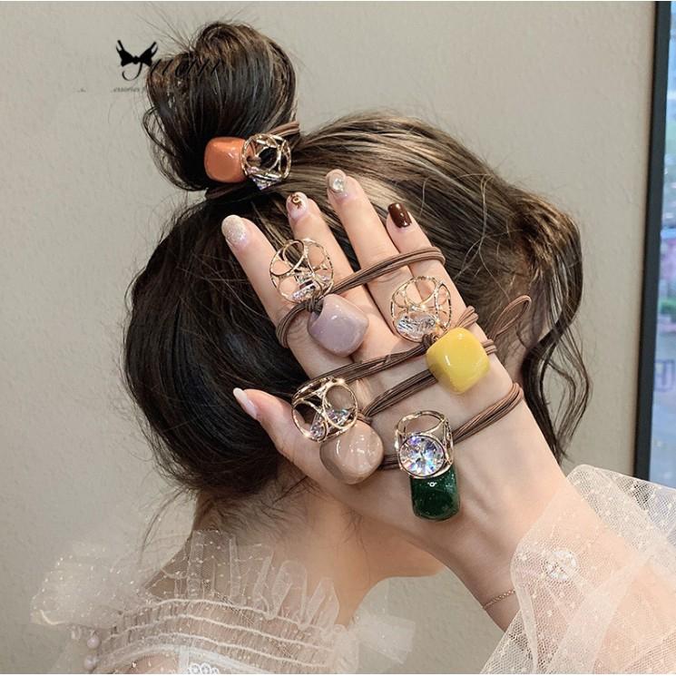 韓國簡約幾何可愛橡皮筋發繩頭飾韓版女髮圈F219