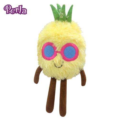 Perlapets 絨毛填充玩具 耍酷鳳梨 寵物玩具 狗玩具