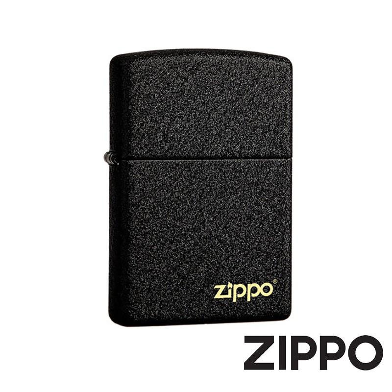 ZIPPO 黑裂漆防風打火機 經典素面 236ZL