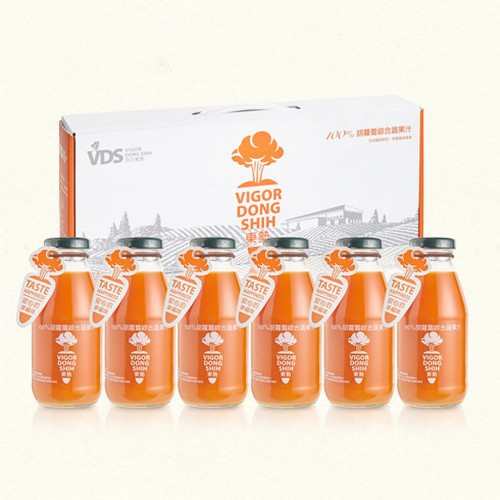 【VDS活力東勢】100%胡蘿蔔綜合蔬果汁禮盒290ml x 6瓶/4盒/箱