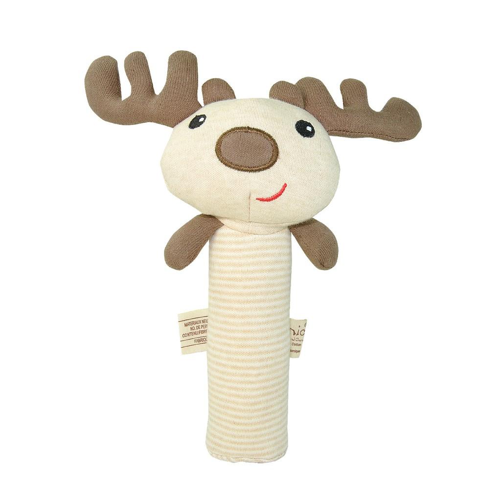 organic 小鹿手握啾啾棒OT-390MS 按壓會發出啾啾聲 100% 有機棉 娃娃購 婦嬰用品專賣店