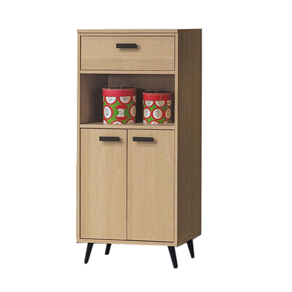 AS-威特原橡木收納櫃/餐櫥櫃/高桶櫃-60.6×39.4×127.3cm(活動隔板一片)