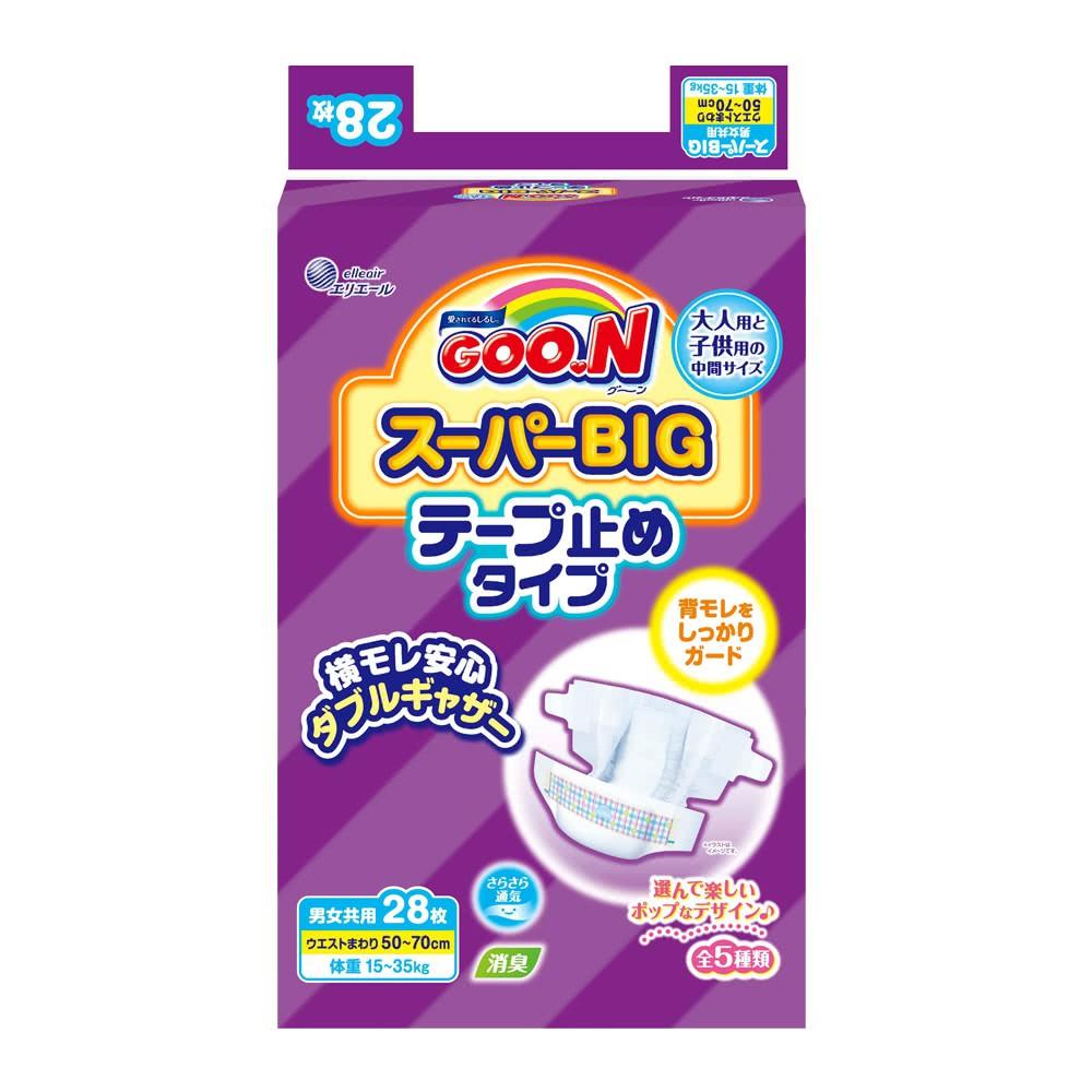 日本大王 GOO.N 黏貼型SB紙尿褲/尿布28片