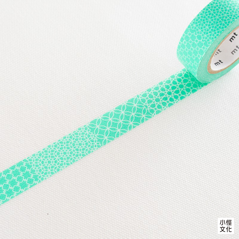 【mt】日本進口和紙膠帶 mt 1P DECO - 線.手本.綠,生產完了品 ( MT01D294 ) [小徑文化]