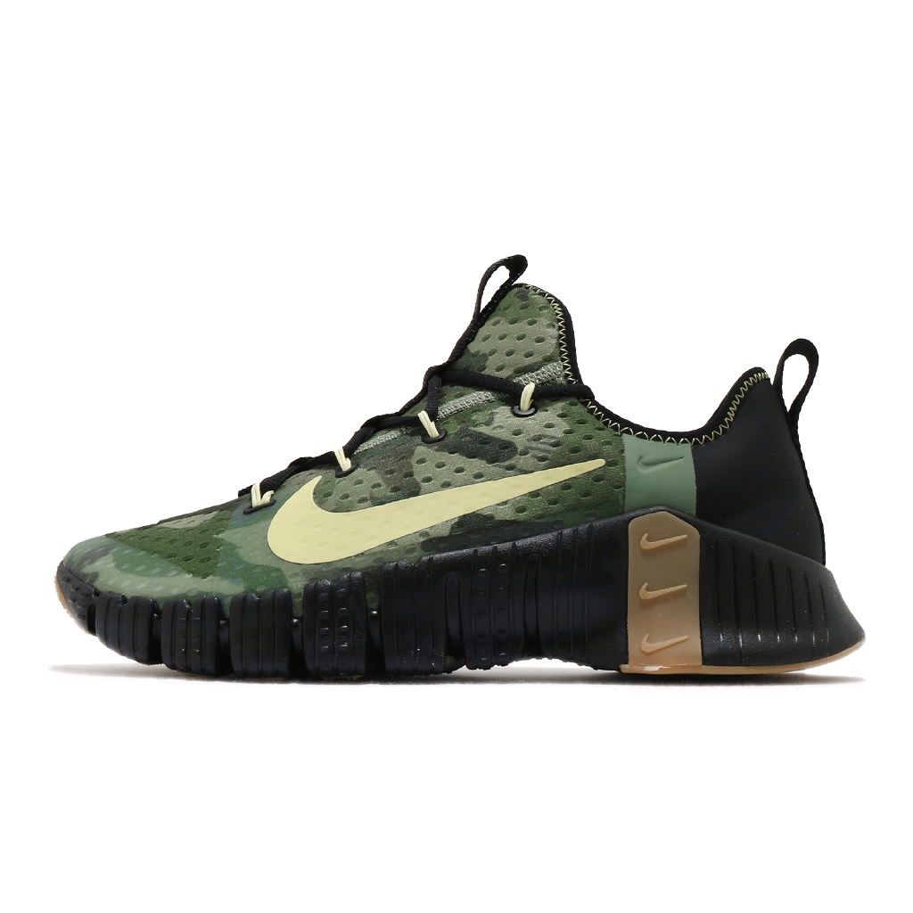 Nike 訓練鞋 Free Metcon 3 軍綠 迷彩 黑 男鞋 健身專用 【ACS】 CJ0861-032