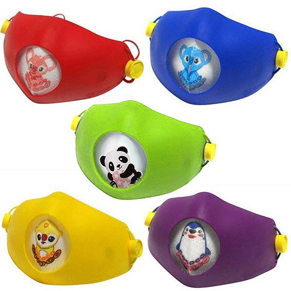 Hoooah 波卡卡通兒童可換雙層抗菌防護口罩 (防護面罩+3入補充濾材) 濾材PM2.5檢驗合格 FDA抗菌材質