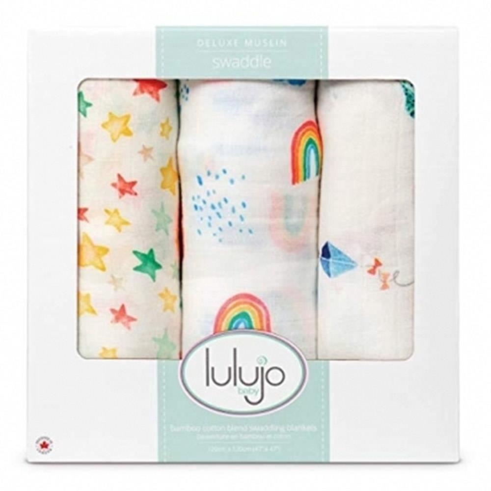 加拿大 lulujo 竹纖維包巾禮盒組--天空[免運費]