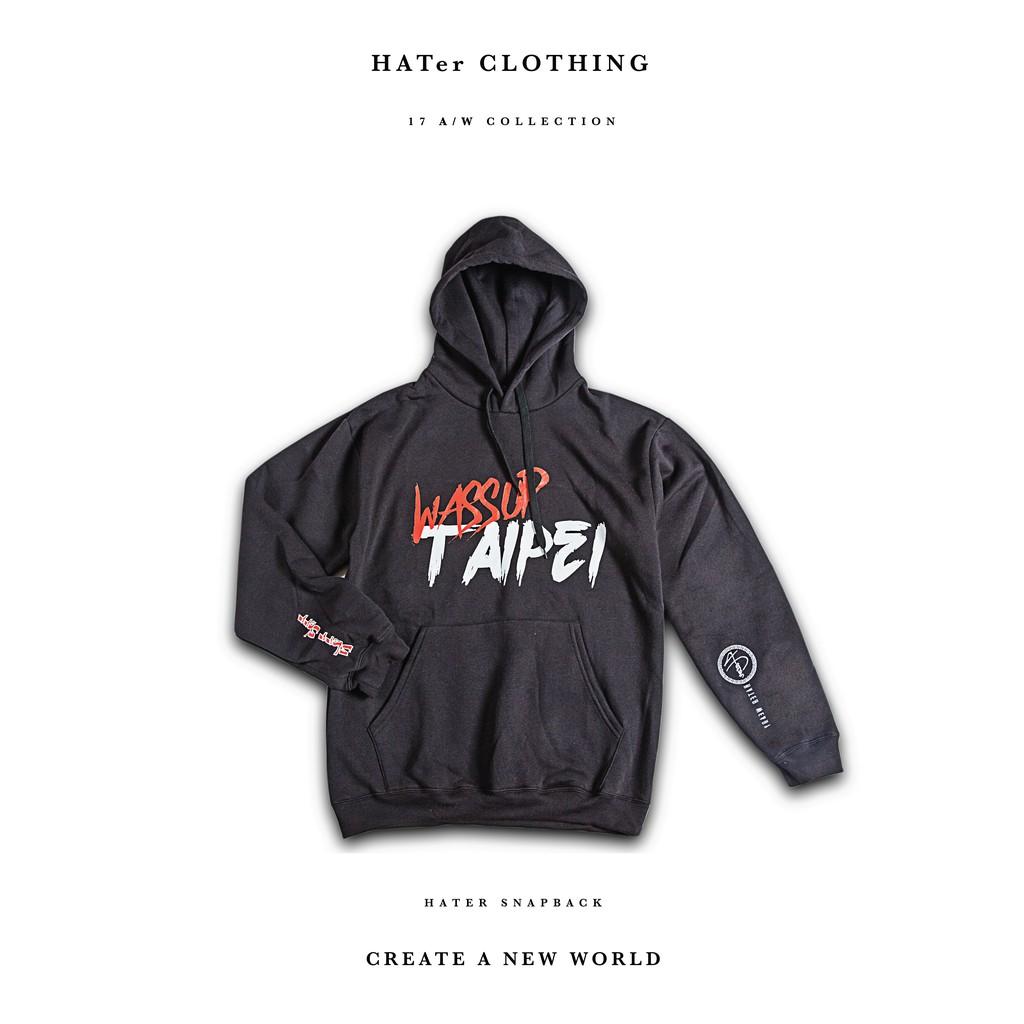 Hater Snapback 【HC14~15】 Wassup Taipei 帽T (黑灰兩色)