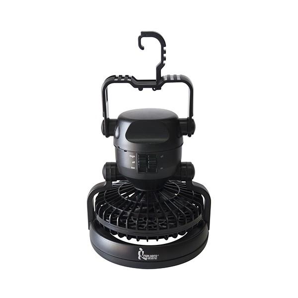 【Der Jinn德晉】DJ-7383 探險家風扇LED露營燈-黑
