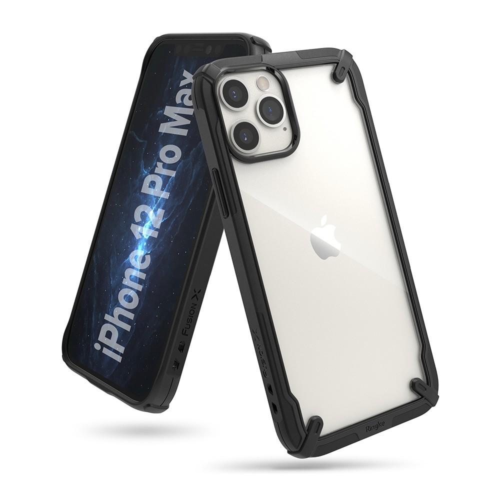 Rearth Apple iPhone 12/12 Pro (Ringke Fusion X) 高質感保護殼(黑)