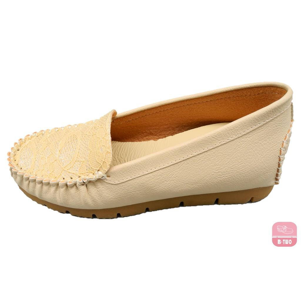 【SO B-TWO 台灣手工鞋】 蕾絲內增高淑女鞋