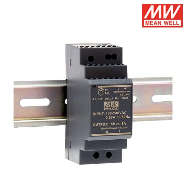 MW明緯 交流/直流 HDR系列 HDR-30 軌道式電源供應器 30W 軌道變壓器 工程用 工業用 鋁軌用
