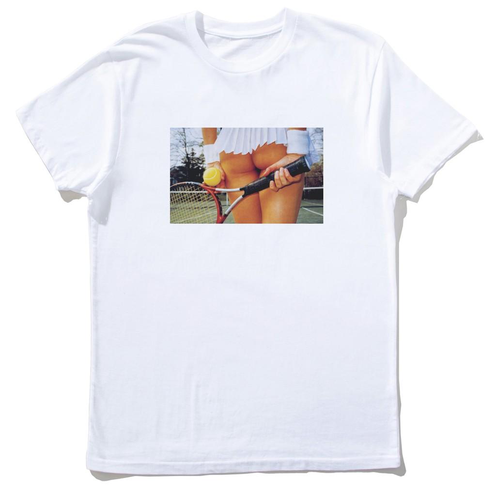 【快速出貨】Tennis Girl 短T 白色 網球運動滑板街頭設計插畫潮流相片照片藝術班服團體服活動尾牙