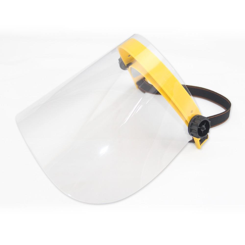 【MIT-台灣製造】全面性防飛沫粉塵可翻調節式防護面罩(黃/綠隨機)