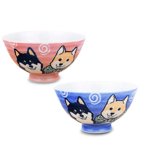 限量 日本美濃燒 柴犬毛料碗 單入(藍色/橘紅色) | 親子飯碗 | 輕食族適用 【堯峰陶瓷】