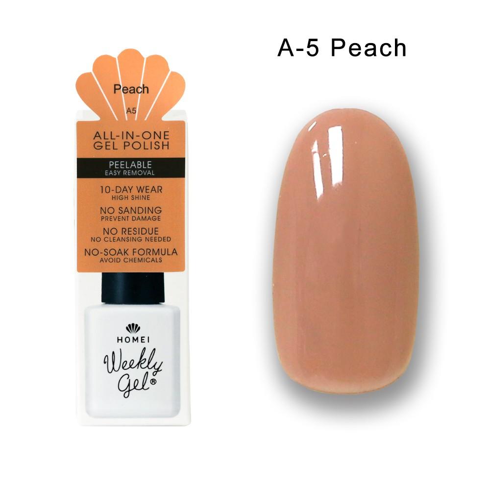 Homei Weekly Gel 可剝光撩凝膠 A-5 Peach(9ml/瓶)