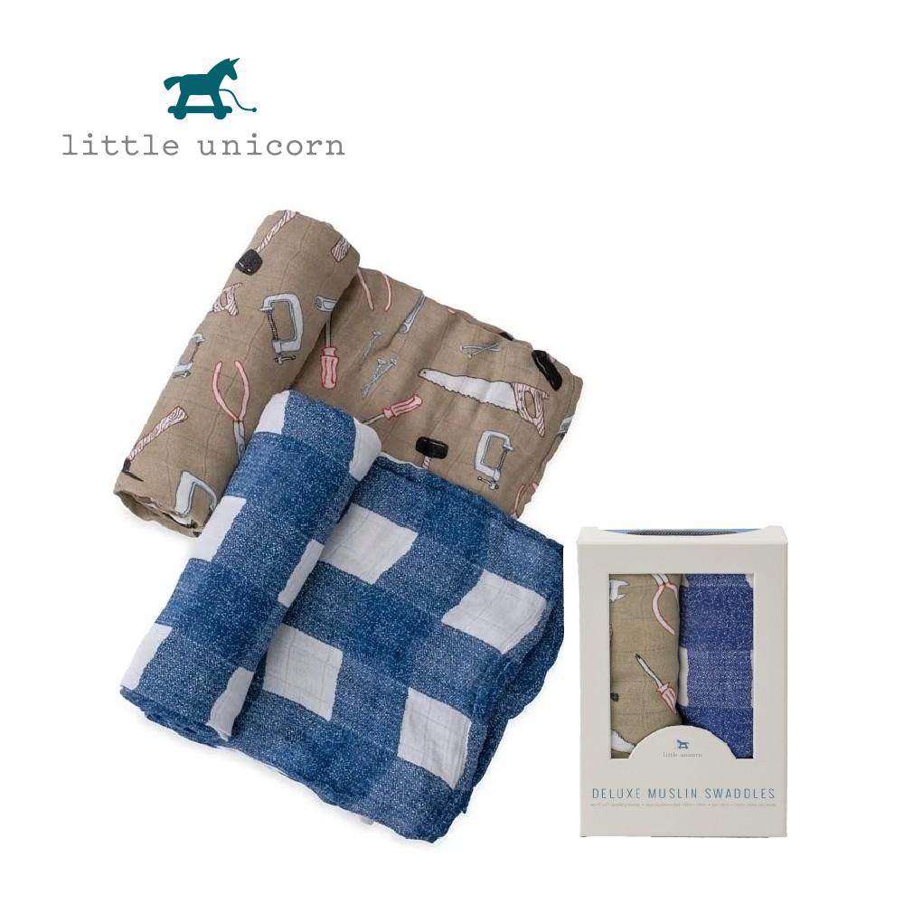 美國Little Unicorn 竹纖維紗布巾兩入組 包巾 工具箱