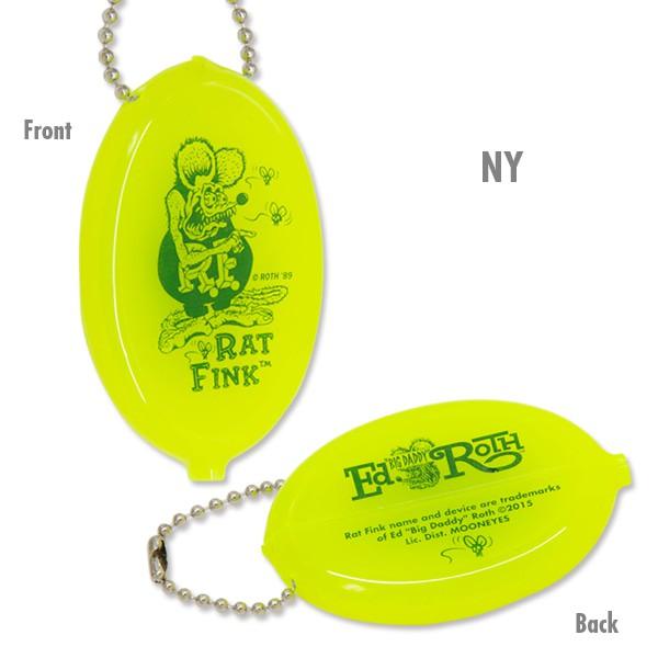 RAT FINK - RAF455 Oval Coin Case 橡膠 零錢包 (NY 螢光黃) 化學原宿