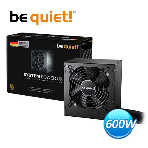 Be quiet! System Power 9 Su9 600W 80 PLUS 銅牌 電源供應器 極致靜音