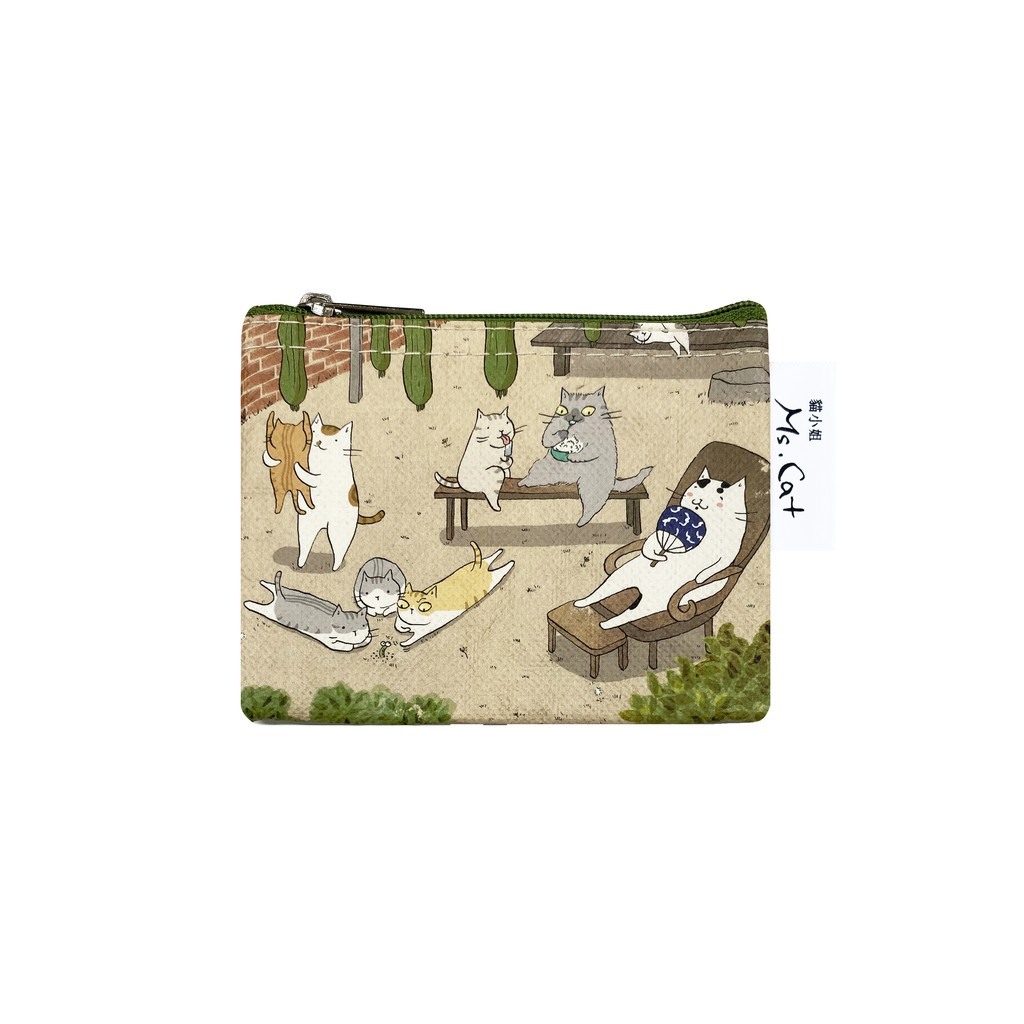 Sunny Bag x 貓小姐Ms.Cat 零錢包-台灣貓日子-瓜棚下