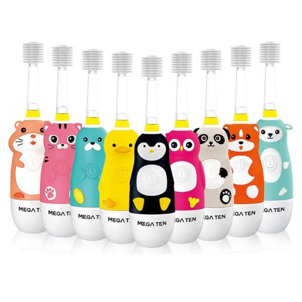 日本 Mega Ten 幼童電動牙刷-頂級款 (9款可選)【麗兒采家】