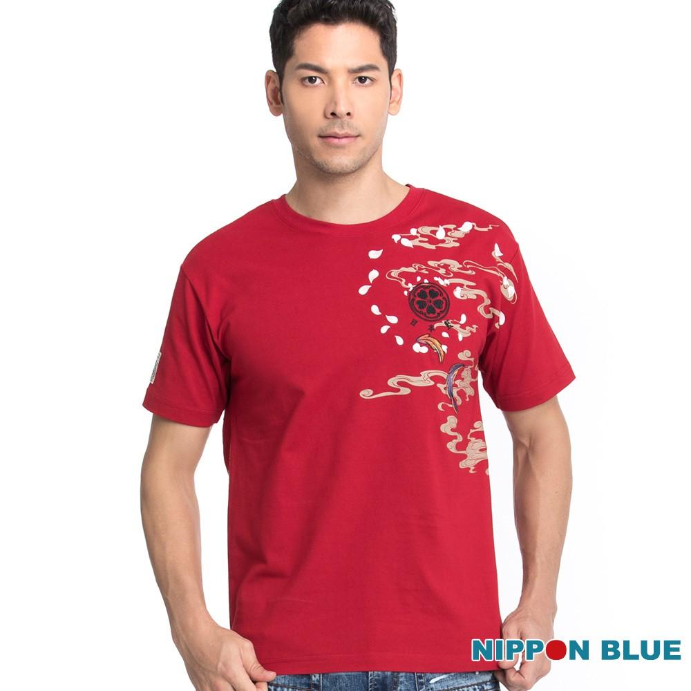 BLUE WAY 日本藍-進口金標-破曉鬥雞短TEE(紅)