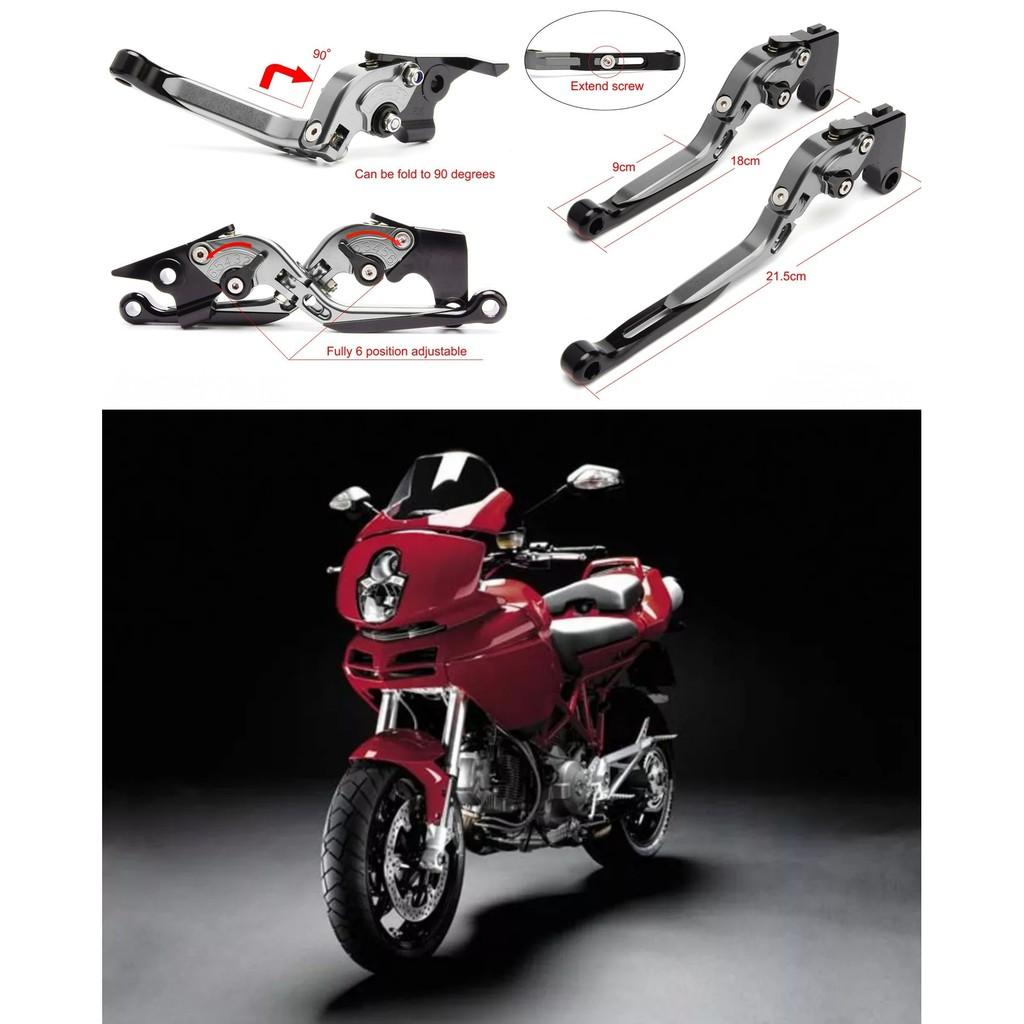 【老虎摩配】鈦款 DUCATI MTS1100S 2007~2009 六段調節式煞車拉桿 REX 雷克斯