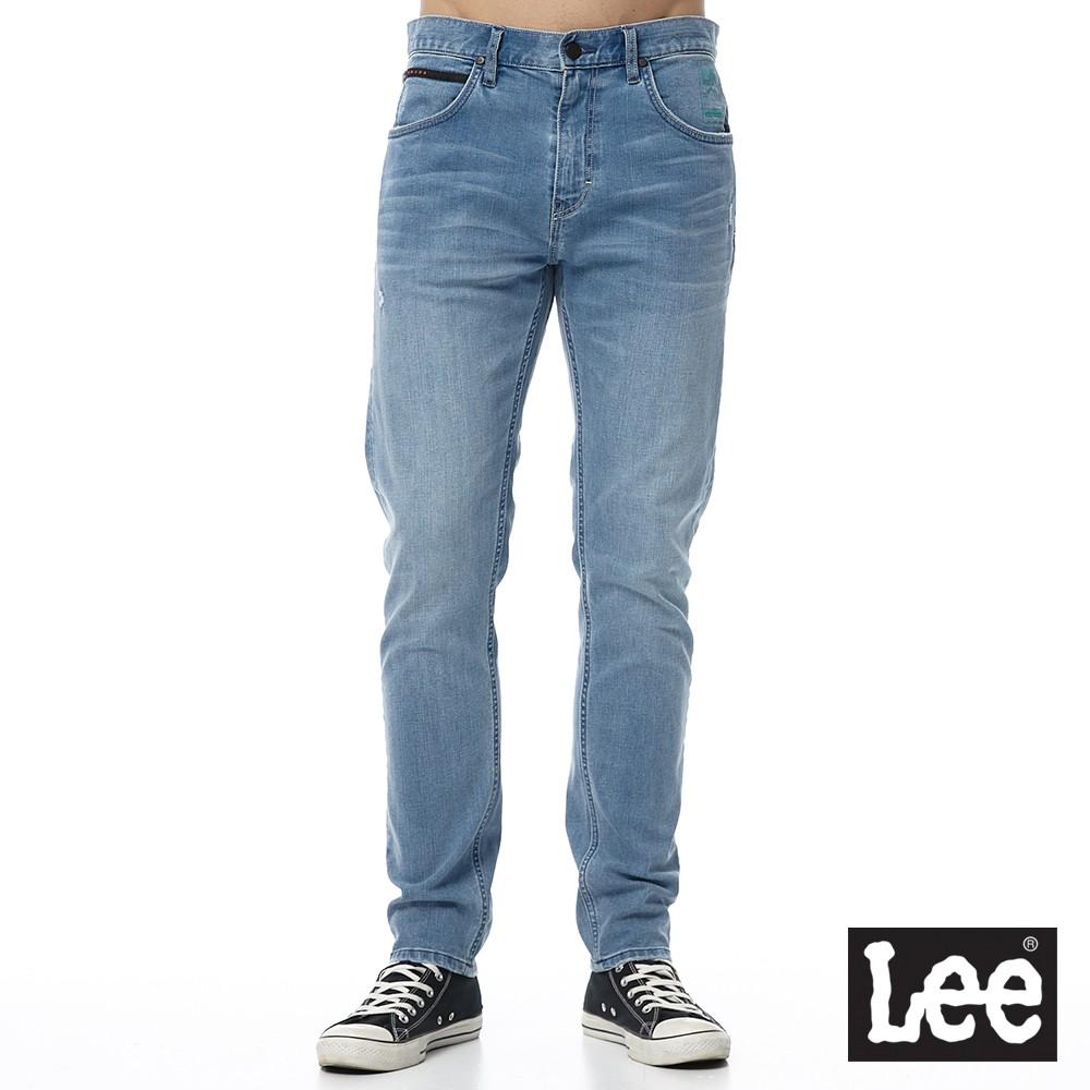 Lee 705 中腰標準舒適小直筒牛仔褲 男 中淺藍 彈性 Urban Riders