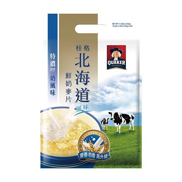 桂格北海道特濃鮮奶麥片 28gx12入/袋  【大潤發】