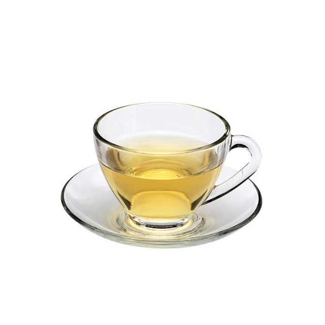 【Ocean】Cosmo花茶杯盤組230ml《泡泡生活》玻璃杯盤組 下午茶杯 咖啡杯