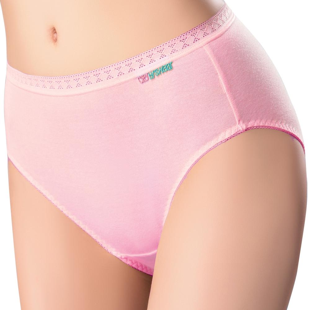 SWEAR 思薇爾 柔感棉 系列 素面 中低腰 日用 生理褲 (嫣紅)