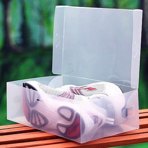 翻開式鞋盒-男款 男鞋適用/透明鞋盒/收納鞋盒/收納盒(限宅)【DP130】