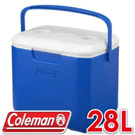 【Coleman 美國 28L EXCURSION海洋藍冰箱】CM-27861/行動冰箱/冰桶/露營冰箱/保冷/悠遊山水
