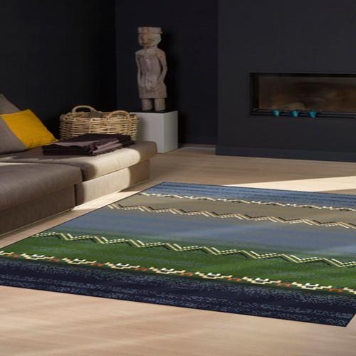 范登伯格 莫爾 玩味時尚地毯 鄉野藍 133x190cm