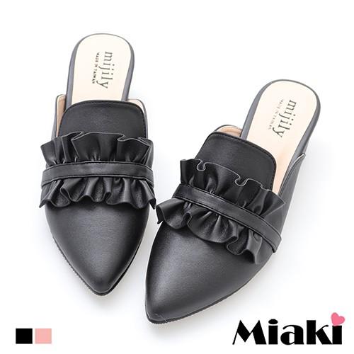 穆勒鞋MIT甜美韓風粗跟包鞋