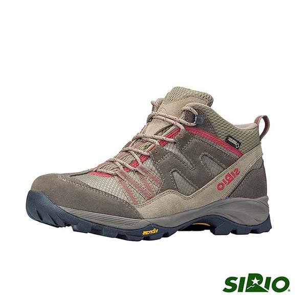 SIRIO 女 PF156SA Gore Tex中筒登山健行鞋 棕紅《台南悠活運動家》