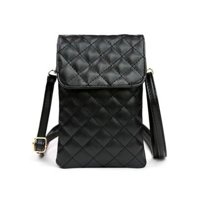 手機包女 大屏拉鍊菱格女斜挎時尚裝放手機的小包包鑰匙零錢包手機袋