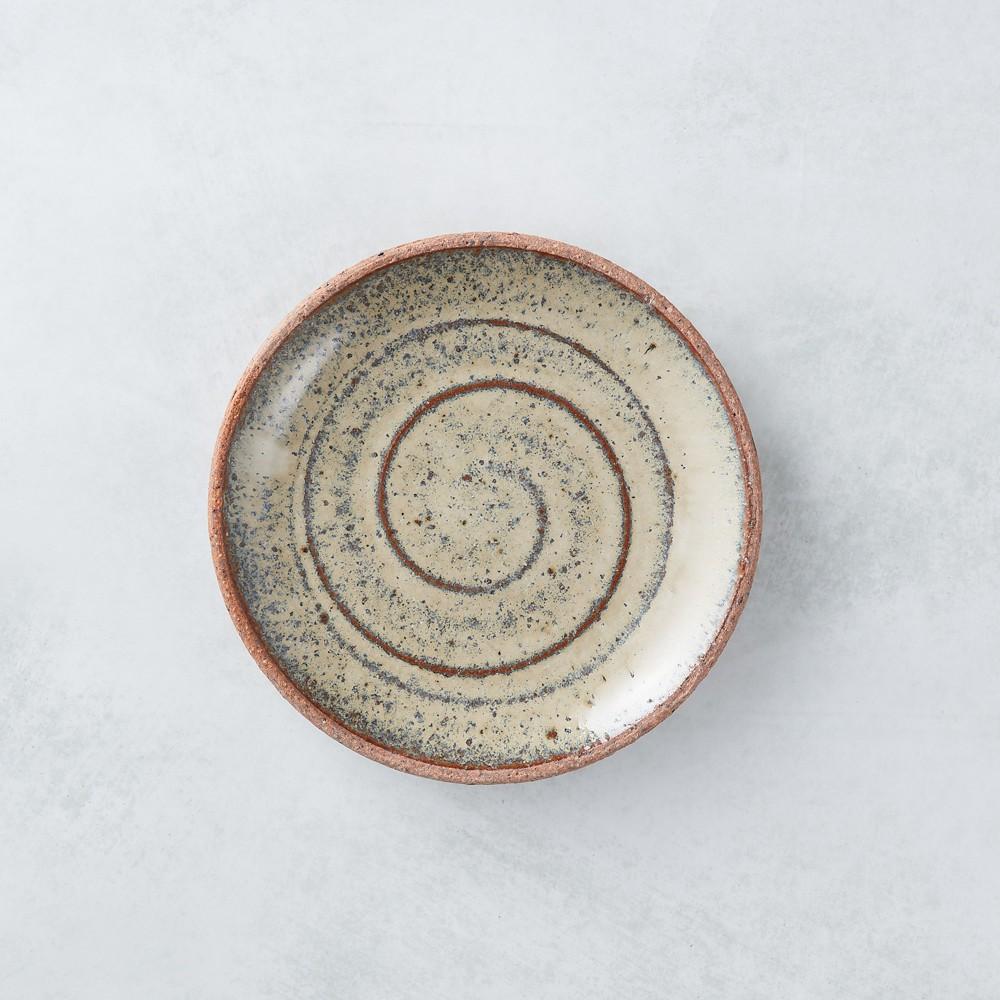 日本美濃燒 - 點心小盤 - 乳白