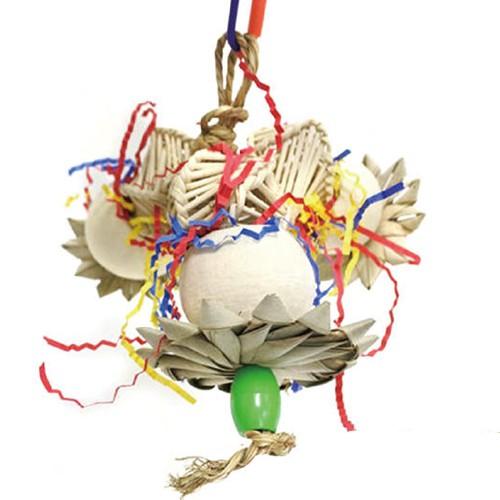 阿迷購Amigo《夏午茶系列-彩虹漂浮》多種天然素材+配件-陪伴鳥寶度過悠閒時光〔李小貓之家〕