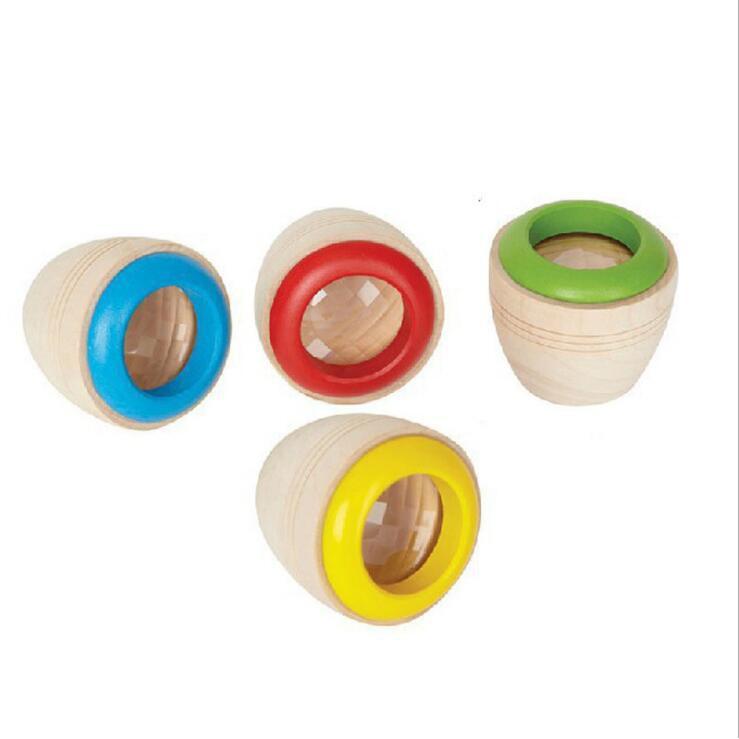 母嬰 小孩玩具卡廠家直銷木製迷你神奇萬花筒多稜鏡蜂眼效果木質兒童休閒玩具 母婴