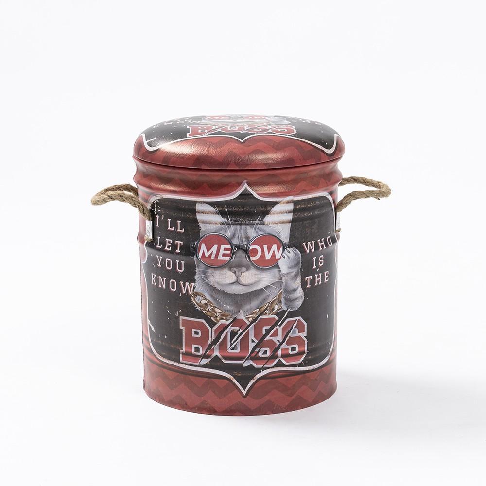 【生活工場】美式風格鐵桶收納椅-MEOW王