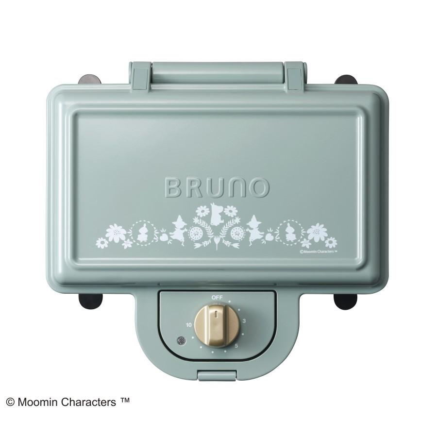 【日本BRUNO】嚕嚕米Moomin聯名款雙格三明治機加碼贈貓型磁盤