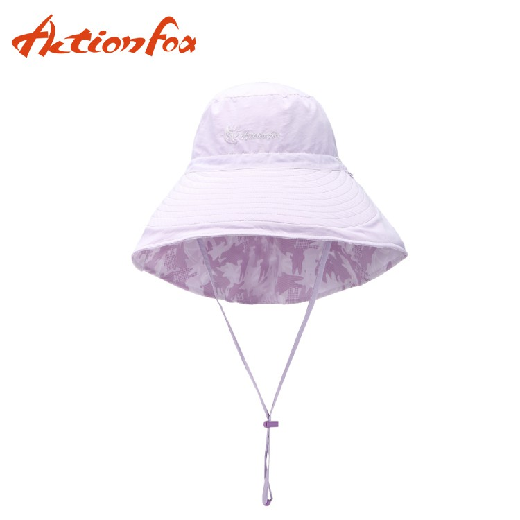 【ActionFox 挪威 抗UV透氣雙面遮陽帽 《淺紫》】631-4768/休閒帽/遮陽帽/登山/露營/悠遊山水