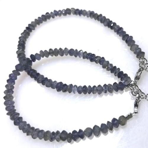 『晶鑽水晶』菫青石手鍊 鑽石切割角度~清除負面能量的好幫手!緩解精神壓力