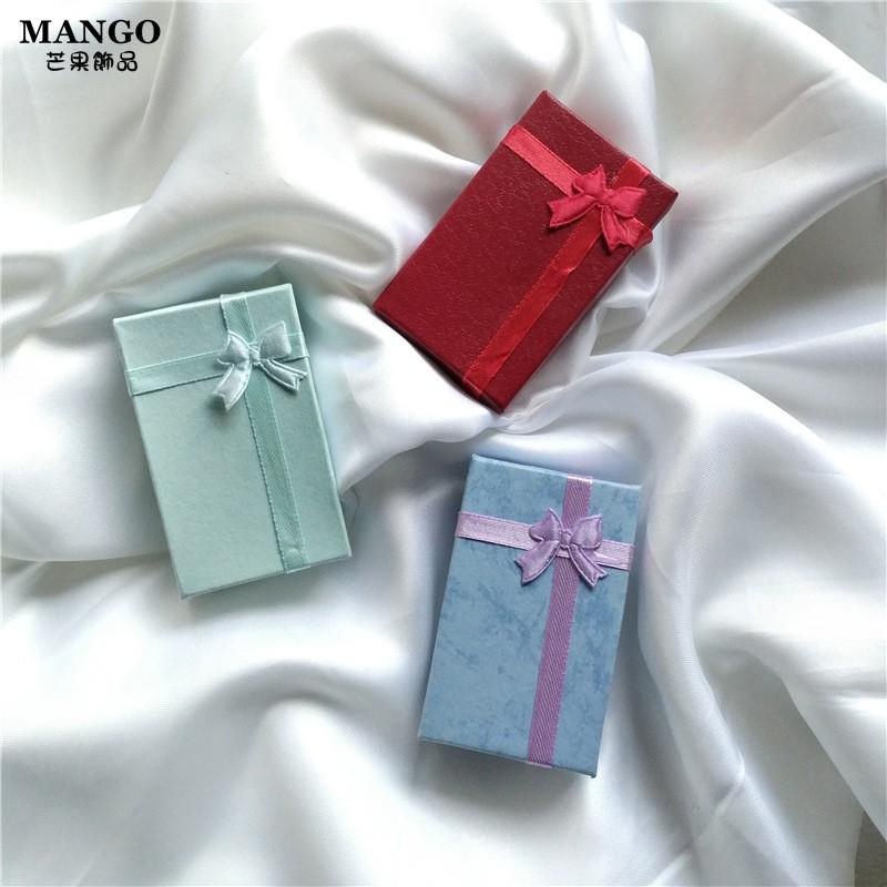 蝴蝶結項鏈戒指耳飾盒子 手鏈包裝盒 精美禮品盒 飾品盒首飾盒  紙盒 禮品盒 T312