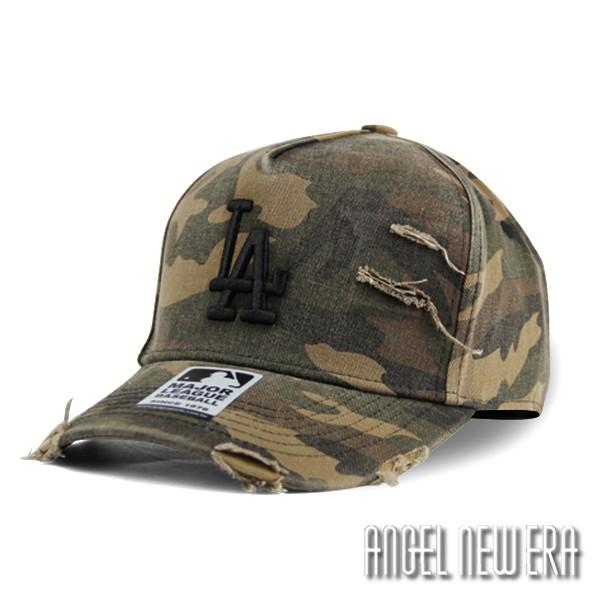 【MLB Old Fashioned Cap】LA 道奇 迷彩 破壞布 卡車帽 老帽【ANGEL NEW ERA 】